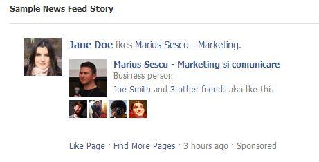 reclama sponsorizata facebook