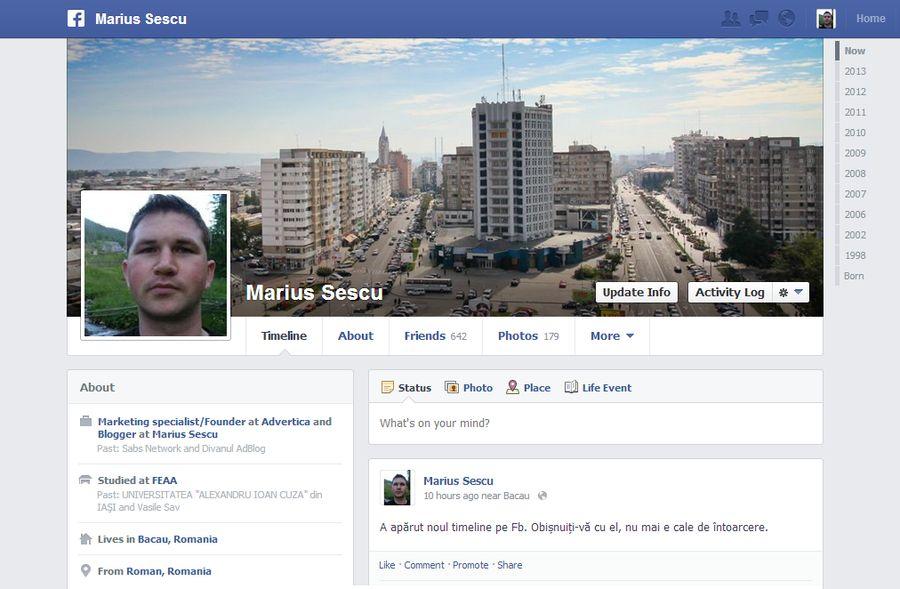 facebook timeline sescu