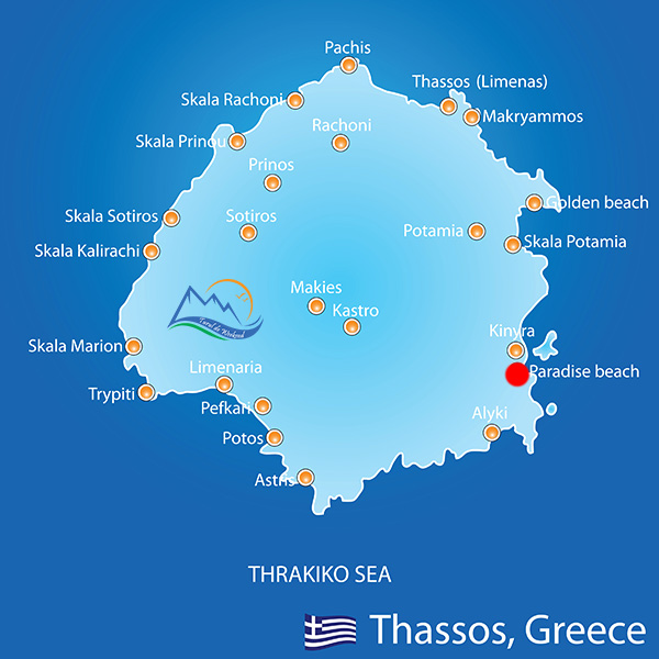 Marble Beach In Thassos Island