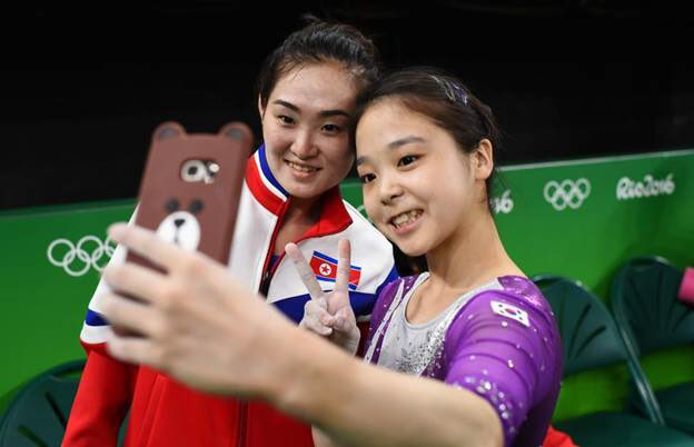 Gymnasts from North & South Korea